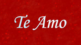 I Love You text in Portuguese and Spanish Te Amo on red background Stock Image