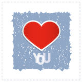 I Love You Theme With Red Heart Royalty Free Stock Photos