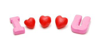 I Love You (Three Hearts) Royalty Free Stock Image