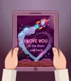 I love you to the Moon and back. Royalty Free Stock Photo