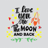 I love you to the moon and back Royalty Free Stock Photography