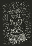 I love you to the moon and back Royalty Free Stock Image