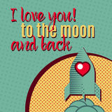 I love you to the moon and back Stock Photos