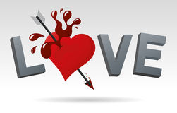 I love you. Traditional style vector illustration loving Stock Images