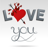 I love you. Traditional style vector illustration loving Royalty Free Stock Image