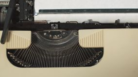 I love you - Typed on an old typewriter. I love you - Typed on an old vintage typewriter stock footage