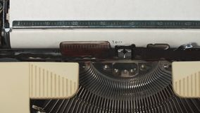 I love you - Typed on an old typewriter. I love you - Typed on an old vintage typewriter stock video