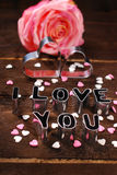 I love you-valantines card Royalty Free Stock Photography