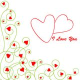 I Love You Valentine Background Royalty Free Stock Image