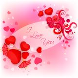 I Love You Valentine Background Stock Photos