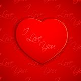 I Love You Valentine Background Stock Images