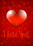 I Love You - Valentine Heart Card Stock Photography