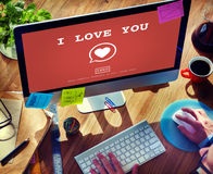 I Love You Valentine Romance Heart Love Passion Concept Royalty Free Stock Images