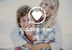 I Love You Valentine Romance Love Heart Dating Concept Stock Photos