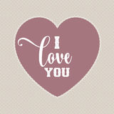 I love you Valentine`s Day background Royalty Free Stock Photos
