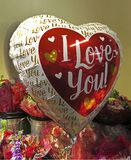 I Love You Valentine`s Day Balloon for Sale in February royalty free stock photo