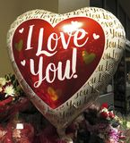 I Love You Valentine`s Day Balloon for Sale stock photos