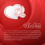 I love you. Valentine's Day Card. Royalty Free Stock Images