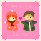 I Love You - Valentine`s Day Card Vector Stock Photo