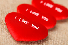 I LOVE YOU Valentine's Hearts Royalty Free Stock Photo