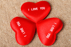 I LOVE YOU Valentine's Hearts Stock Photo