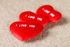 I LOVE YOU Valentine's Hearts Stock Images