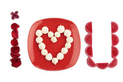 I love YOU - Valentine's message Royalty Free Stock Photography