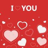 I Love You. Valentine I Love You Vector card Stock Photos