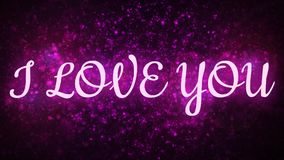 I love you. Valentine or wedding background. Animated text. I love you. Valentine or wedding background stock video