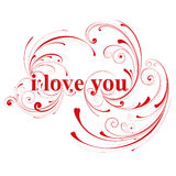 I love you, valentines day card Royalty Free Stock Image