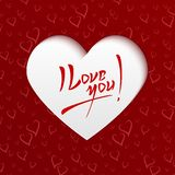 I Love You - Valentines Day Greeting Card Royalty Free Stock Photo