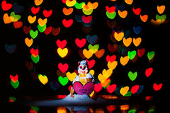 I love you !. I've made this photo using : flour ; tree light installation ; bokeh shape - heart Stock Photos