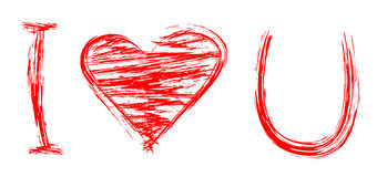 I love you. vector Royalty Free Stock Photography
