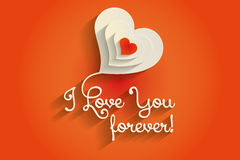 I love you vector background. Stock Photo