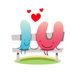 I love You vector cute illustration of love feelings concept Royalty Free Stock Photography
