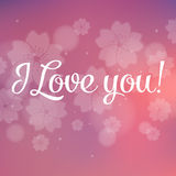 I Love You Vector Lettering stylish text Stock Photo