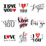 I love You vector text Stock Photos