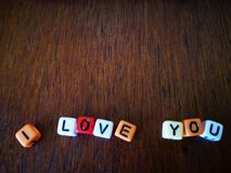 I love you with vintage background. stock image