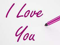 I Love You On Whiteboard Shows Dating And Stock Photo