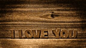 i love you wood Royalty Free Stock Photography