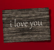 I love you wood design. Creative graphic illustration Royalty Free Stock Images