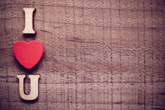 I Love You On Wood Royalty Free Stock Photos