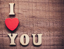 I Love You On Wood Royalty Free Stock Photography