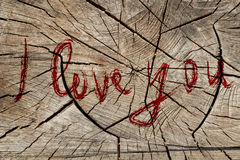 I love you. Wooden background. Valentine's Day theme. Love design stock photos