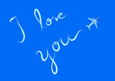 I love you word Stock Image