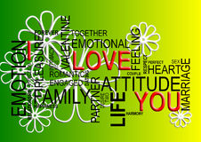 I Love You-word cloud Royalty Free Stock Images