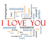 I Love You Word Cloud Concept Stock Photography