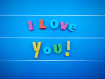 I love you word text Royalty Free Stock Photos
