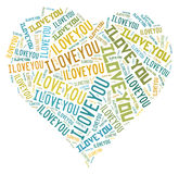 I love you, word. Valentine`s day. My heart Stock Images