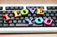 I love you words Stock Photos